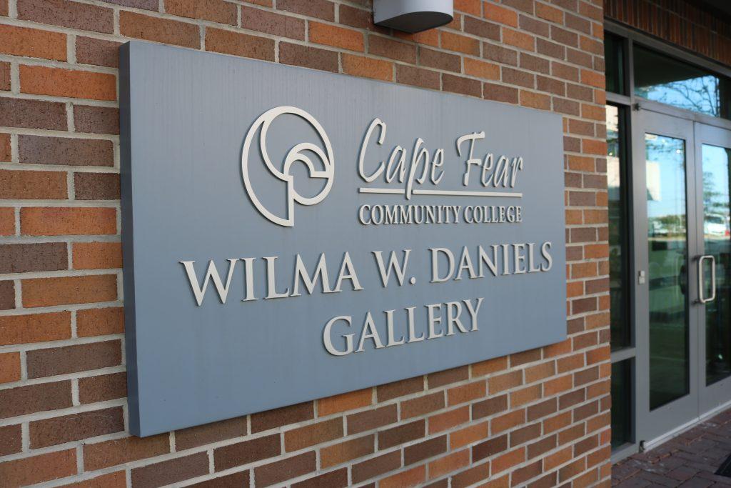 Cape Fear Community College Wilma W. Daniels Gallery sign