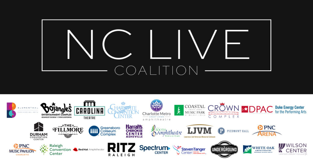 NC Live Coalition graphic of members (listed below)