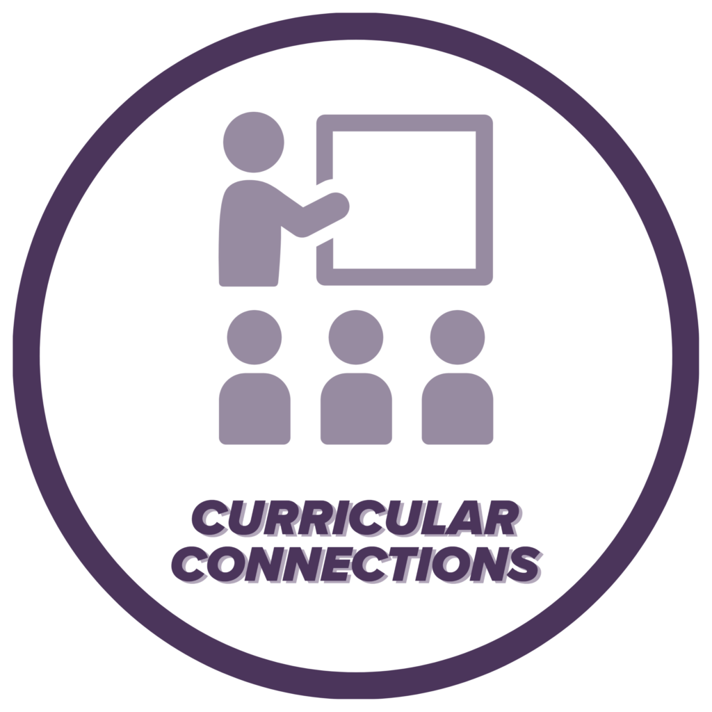 Curricular Connections icon, click to learn more